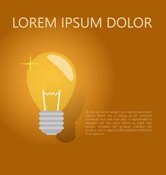 A light bulb the concept of a business idea a vector