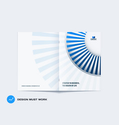 Abstract brochure design modern catalog vector