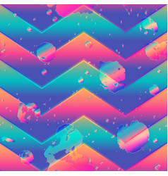 Abstract zigzag pattern with grunge effect vector