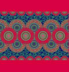 African wax print fabric ethnic handmade flowers vector