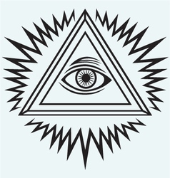 All seeing eye vector image