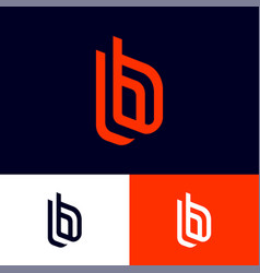 b letters double b monogram vector image