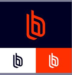B letters double monogram vector