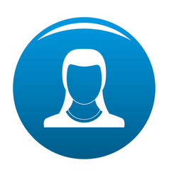 Best woman user icon blue vector