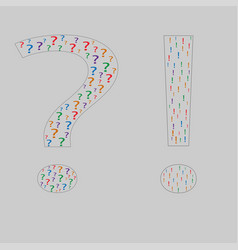 black question mark from question symbol search fo vector image