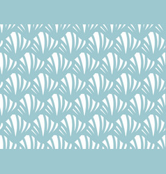 blue small shell pattern vector image