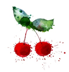 Bright cherry vector image