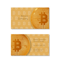 Business card of bitcoin company vector