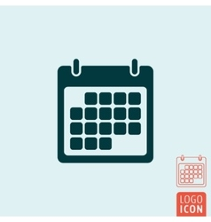 Calendar icon isolated vector image