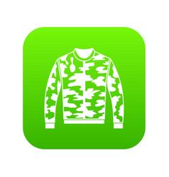 camouflage jacket icon digital green vector image