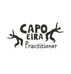Capoeira fighting dance vector