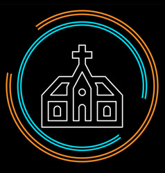 church building church architecture icon vector image