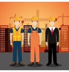 City under construction cityscape background icon vector