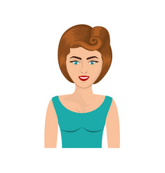 Colorful realistic half body woman with blouse and vector
