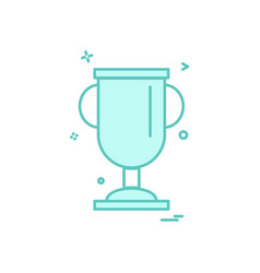 cup trophy award icon design vector image