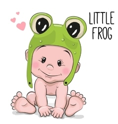 Cute cartoon baby vector image