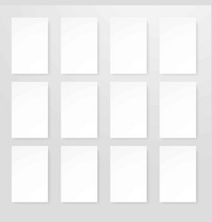 Empty sheets of paper in realistic design flat vector