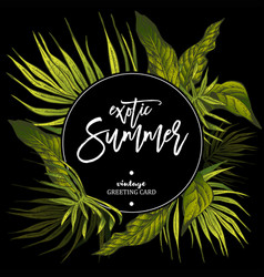 Exotic tropical leaves vector