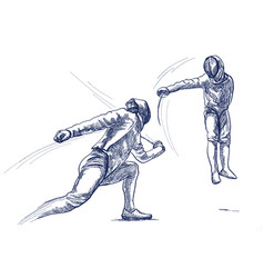 Fencing - an hand drawn freehand vector
