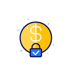 Fixed cost or price icon art vector