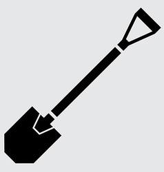 Flat shovel icon vector image vector image
