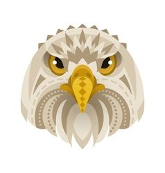 Flat style of eagle face vector