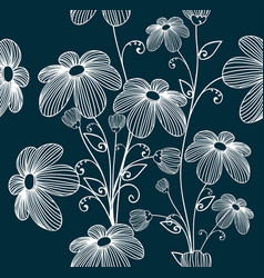 Florals seamless pattern background vector