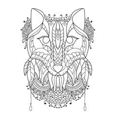 Fox Pattern style zentangl vector