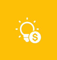 Funding of the new product idea icon vector