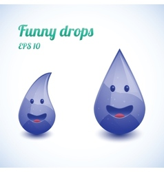 Funny water drops vector