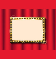 gold frame and curtain theater or concert hall vector image