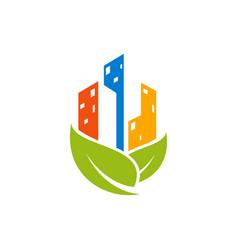 green view estate vector image