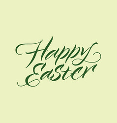 happy easter inscription typographic template vector image