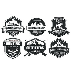 Hunting logo template in vector