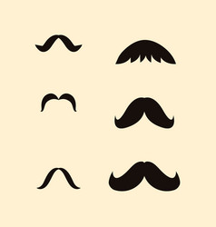 icon set of mustaches vector image