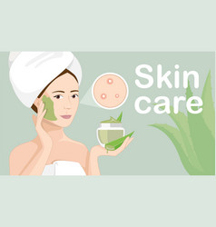 ingredients for natural skin care of her delicate vector image