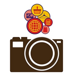 Internet icon design vector image