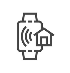 internet things smart house line icons set vector image