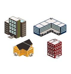 isometric building set vector image