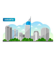 jakarta travel to indonesia vector image