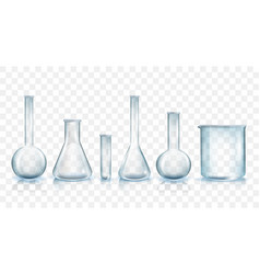 Laboratory glassware set vector