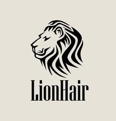 lionhair logo vector image