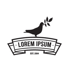logotype with a dove vector image