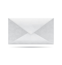 Low poly gray envelope vector image