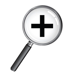 magnifying glass plus vector image vector image