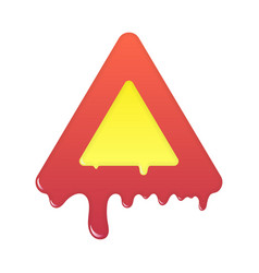 Melting warning icon blank beware symbol vector