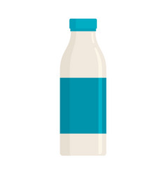 milk in flat style isolated on white vector image