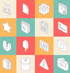Modern Flat Icons 6 vector image