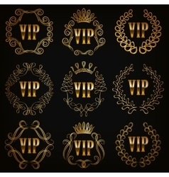 Monogram Logos Set vector image