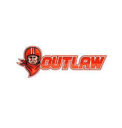 Motorcycle biker outlaw retro vector